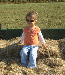 Jane  on the Hay Wagon